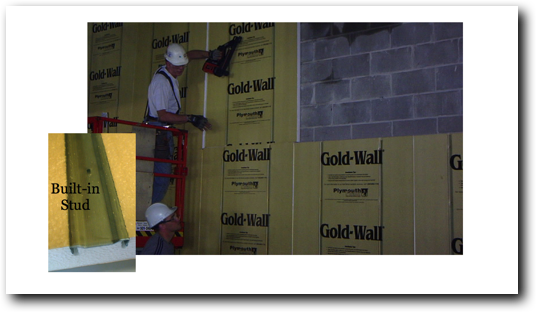 Goldwall Gold Wall Best Wall Insulation System Studs In